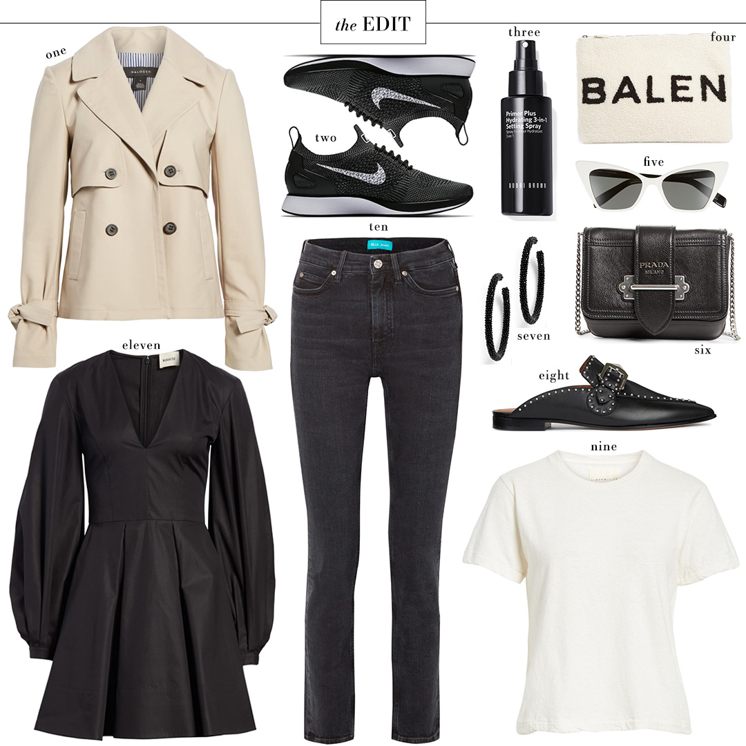 Halogen Short Trench Coat from Nordstrom | The Edit