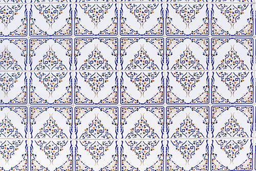 Tiled Facades in Lisbon Portugal