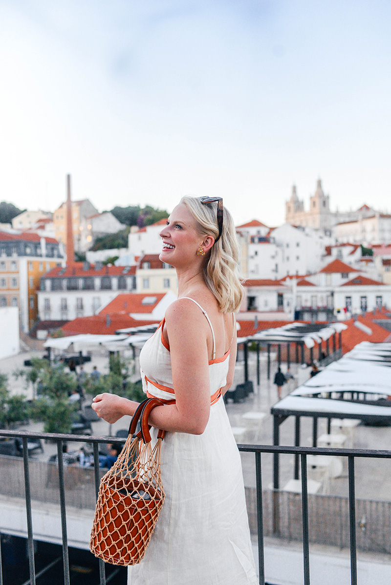 Sunsets in Lisbon | Merritt Beck wearing LPA 531 Dress