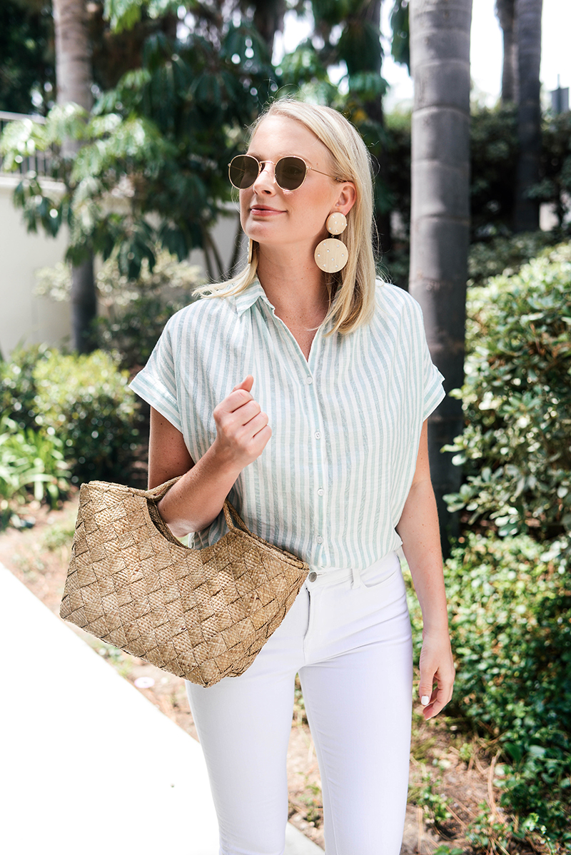 Madewell Striped Top and J BRAND Maria Jeans | The Style Scribe