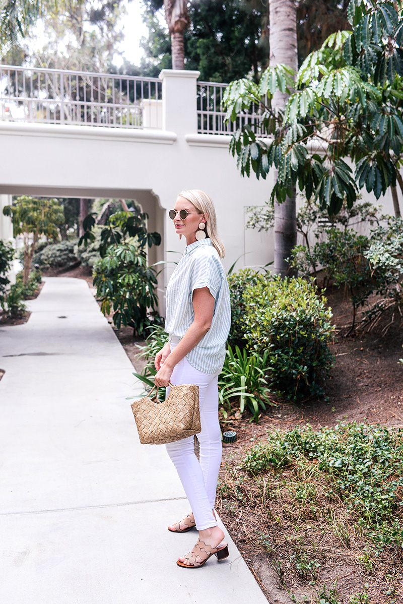 Madewell Striped Top and J BRAND Maria Jeans   The Style Scribe