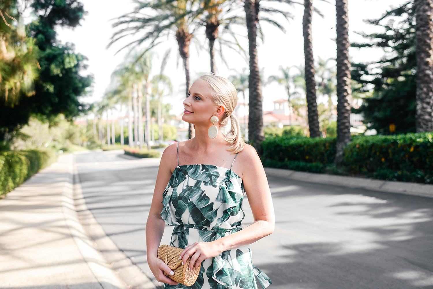 Chelsea28 Palm Print Maxi Dress on Merritt Beck