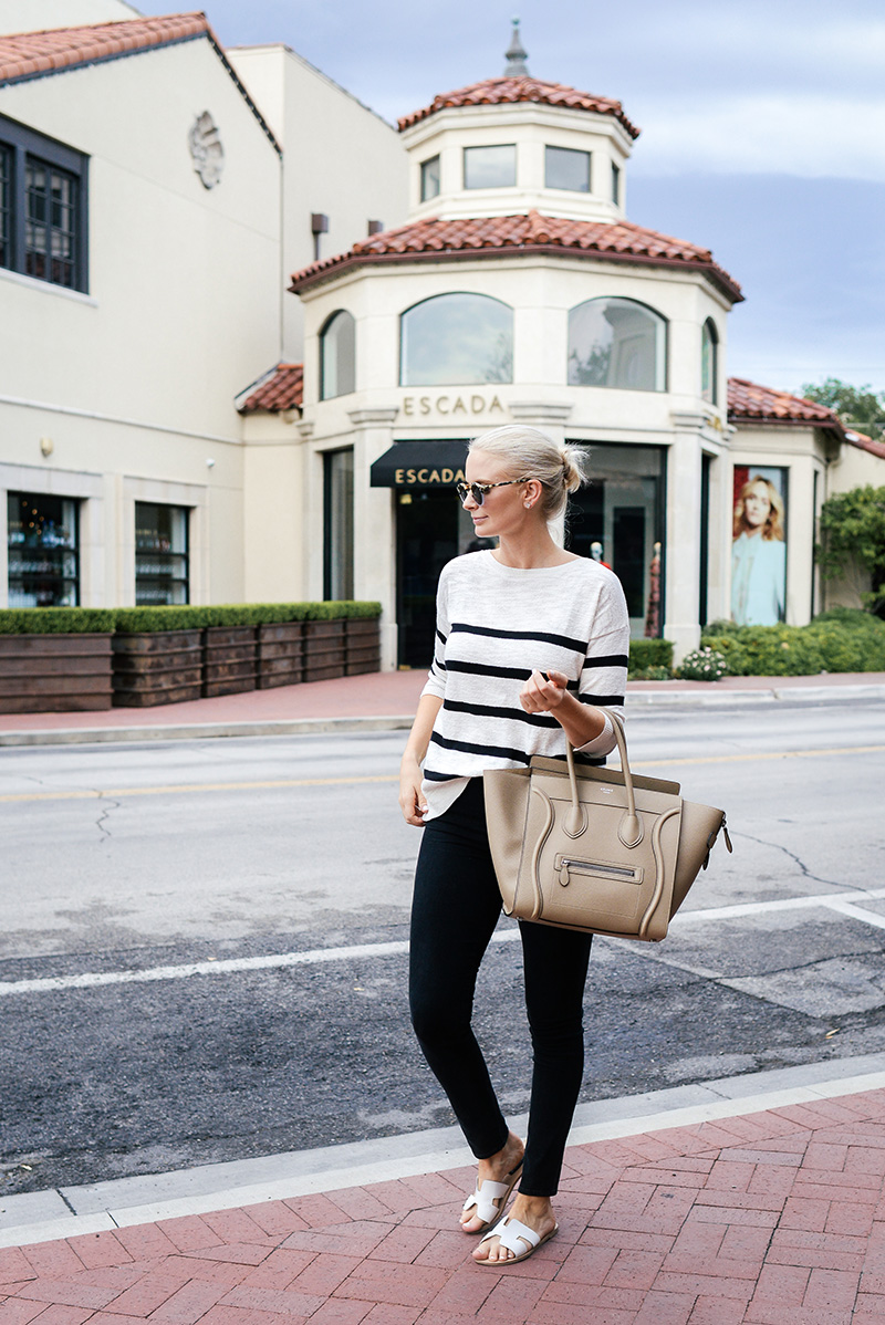 LOFT Striped Slouchy Knit in Black and White | Merritt Beck of The Style Scribe