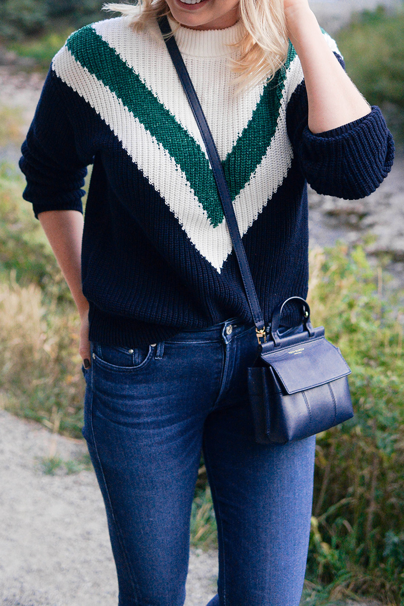 Cute Fall Sweater and Skinny Jeans Outfit