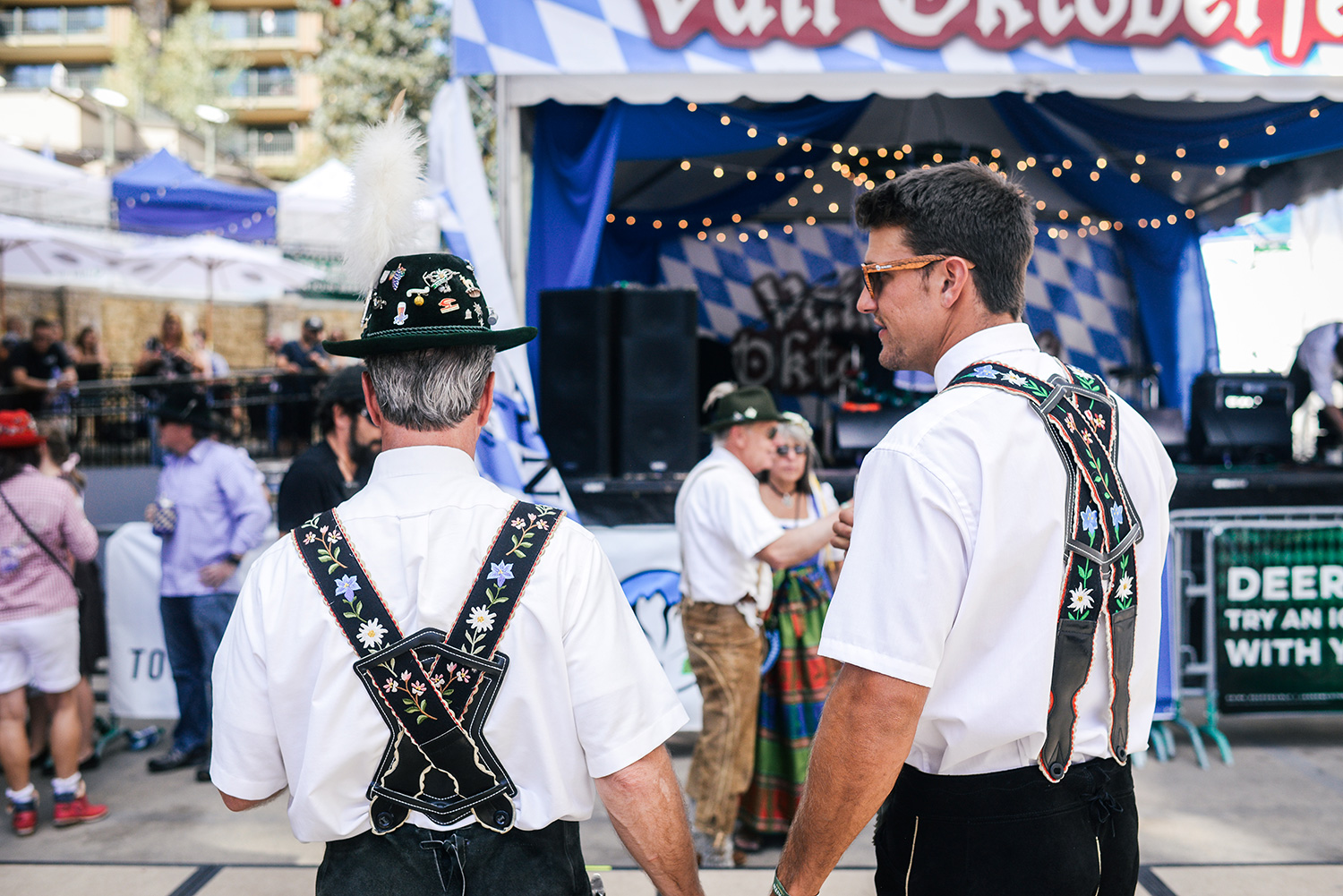 Celebrating Oktoberfest in Lionshead/Vail Colorado