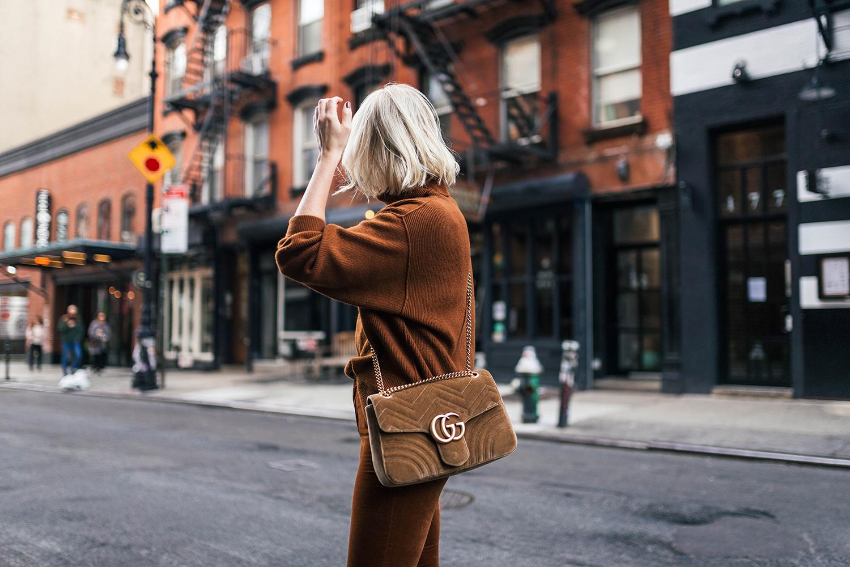 Fall Outfit Ideas   Cognac Velvet Jeans