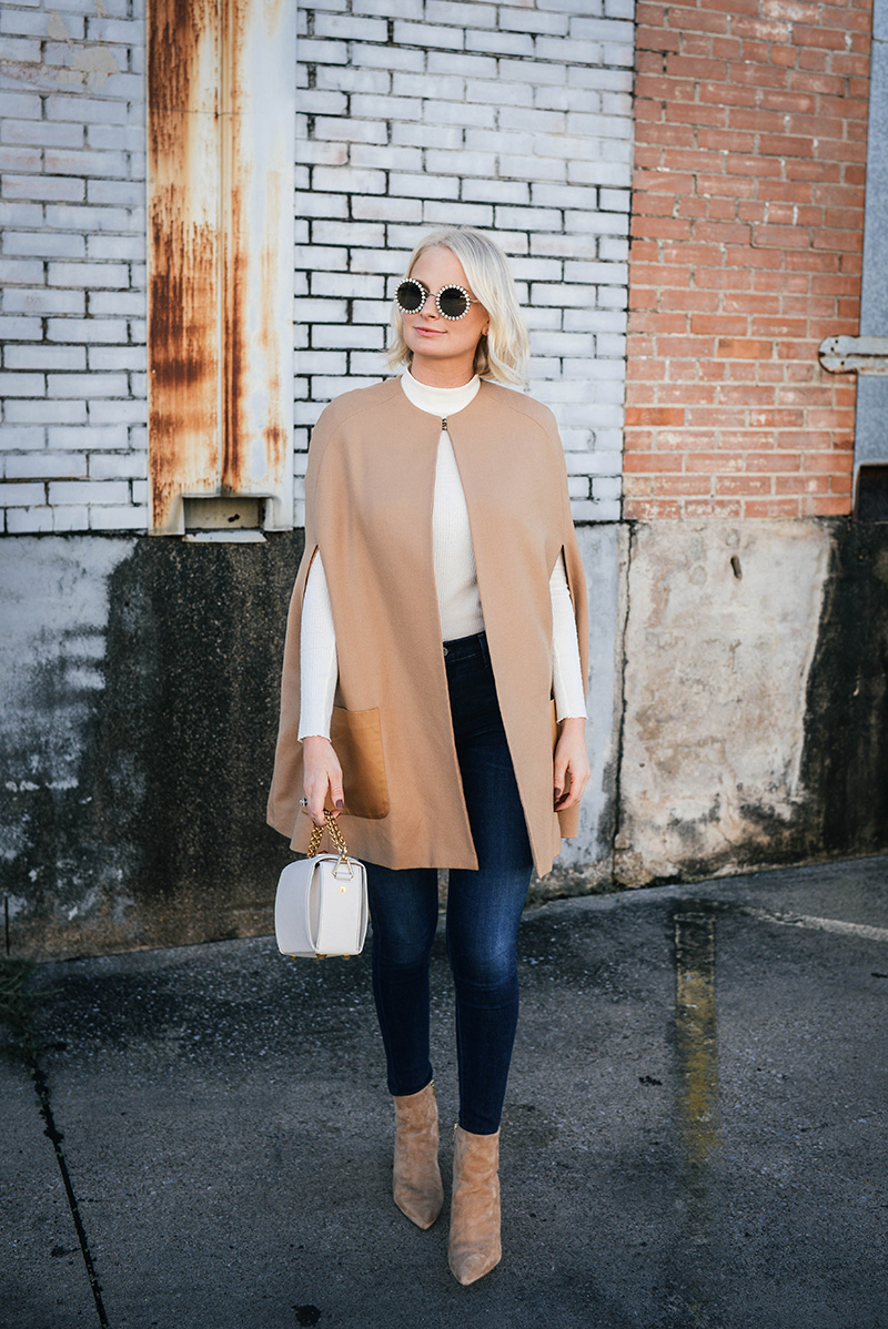 d86d32d7f5 Camel Cape and Suede Pointed Toe Booties