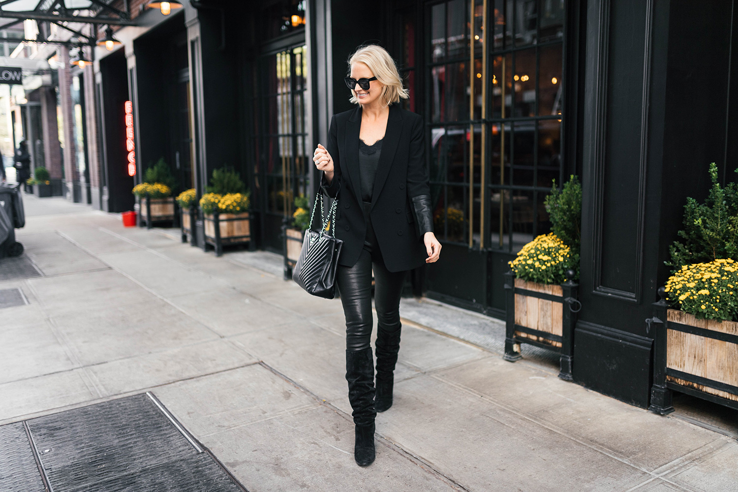 Veronica Beard Leather Skinny Pants | Merritt Beck, Dallas Style Blogger