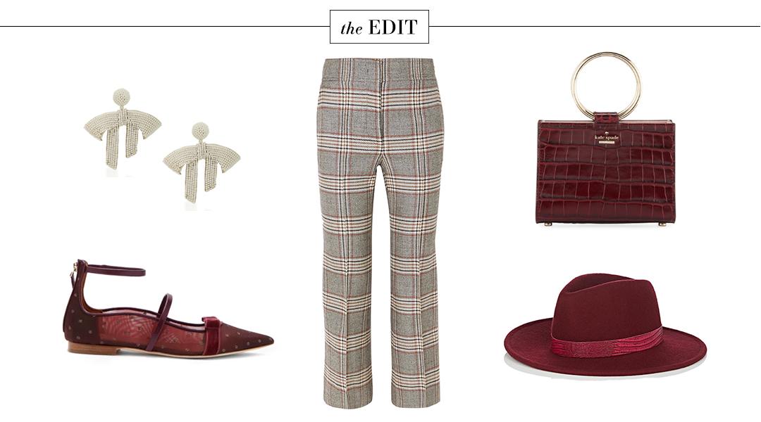Joseph Plaid Check Trousers | The Edit