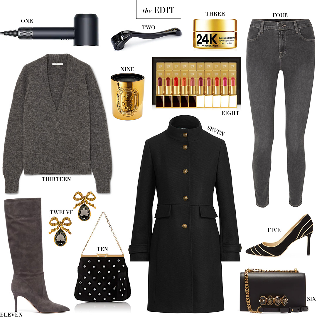 Bienen-Davis Velvet Clutch, Lauren Ralph Lauren Military Coat and More in THE EDIT