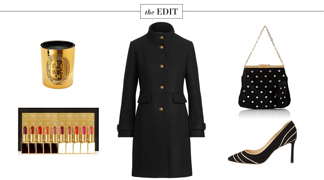Bienen-Davis Velvet Clutch, Lauren Ralph Lauren Military Coat and More in THE EDIT