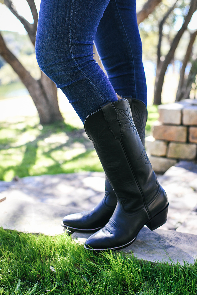 CITY BOOTS // THE PRESTON COWBOY BOOT IN BLACK