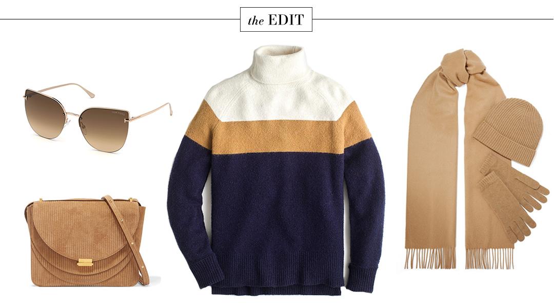 The Edit   Winter White Coat + Camel Accessories