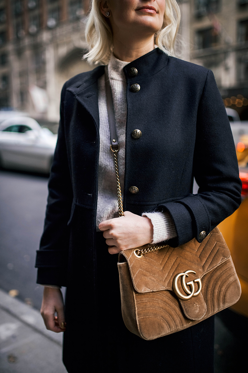 Lauren Ralph Lauren Military Style Pea Coat on Merritt Beck, The Style Scribe