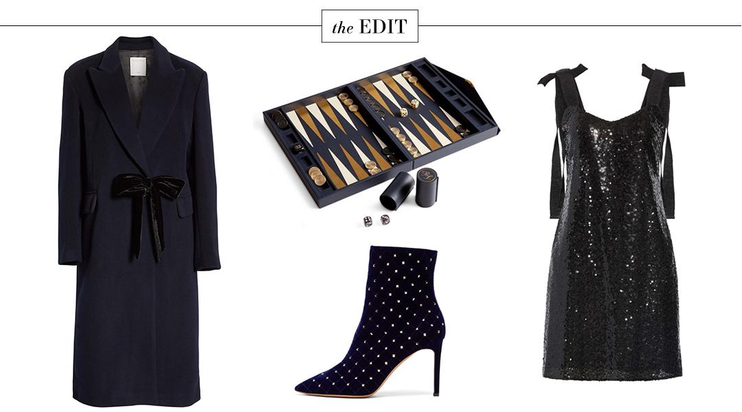 The Edit | Hugo Kistella Dress and Sandro Velvet Tie Coat
