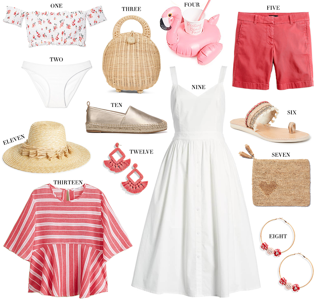 UNDER $100 | CORAL + WHITE BEACH FINDS