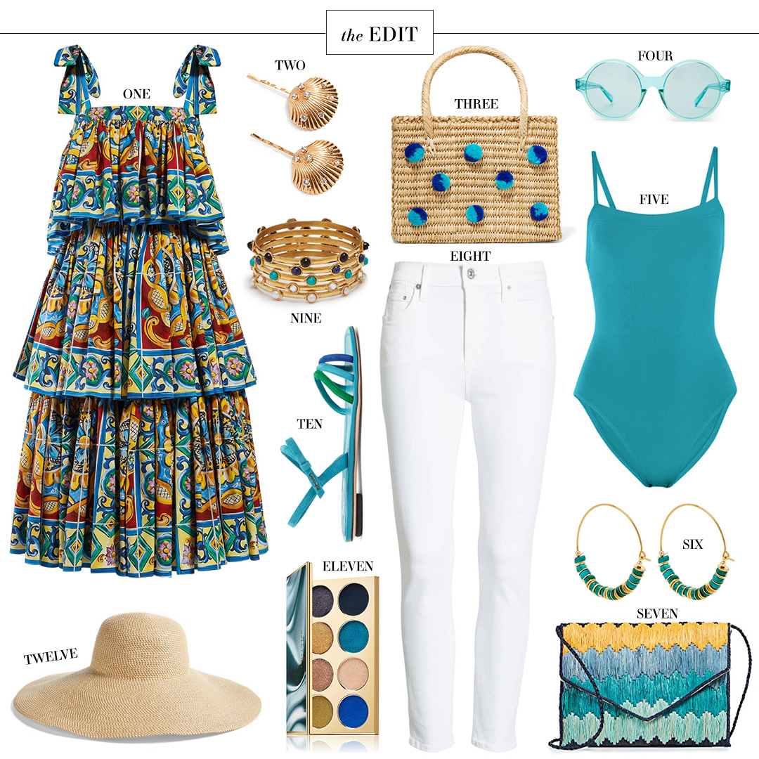 THE EDIT // DOLCE & GABBANA MAJOLICA PRINT TIERED MIDI DRESS