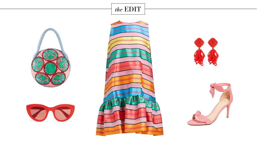 THE EDIT | MARY KATRANTZOU ELLIS STRIPE DRESS