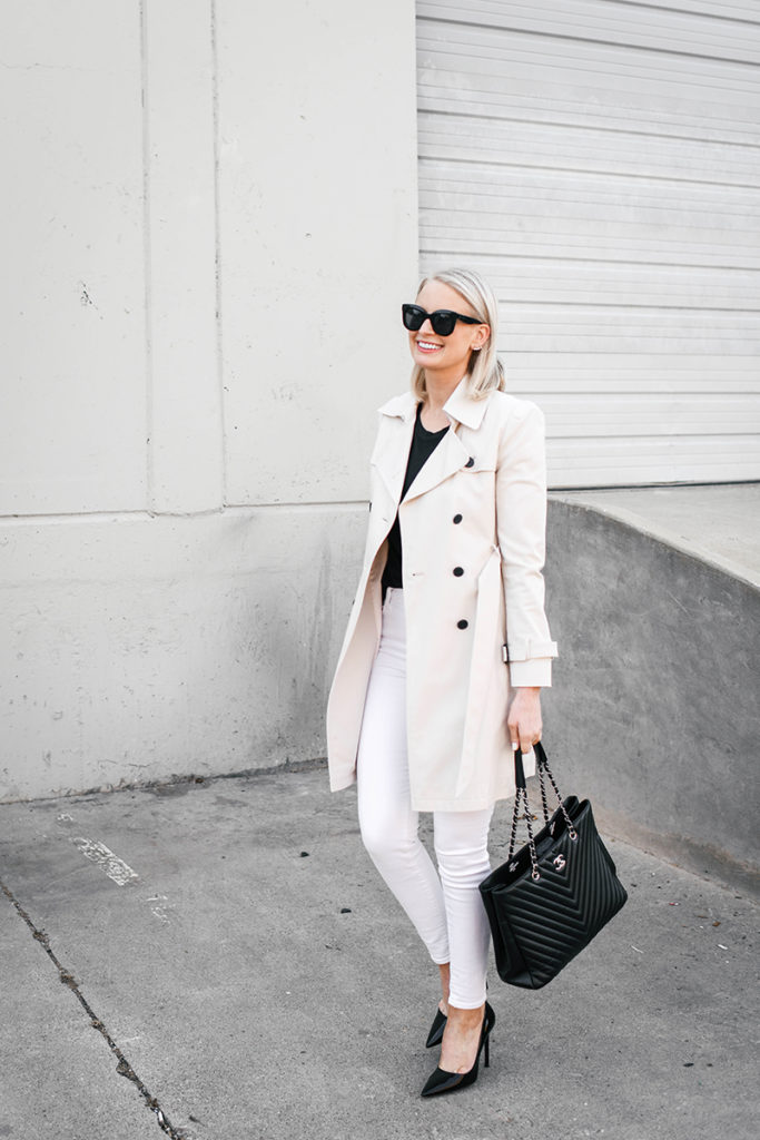 WHITE JEANS THREE WAYS // HOW TO TRANSITION THEM FROM WINTER TO SPRING