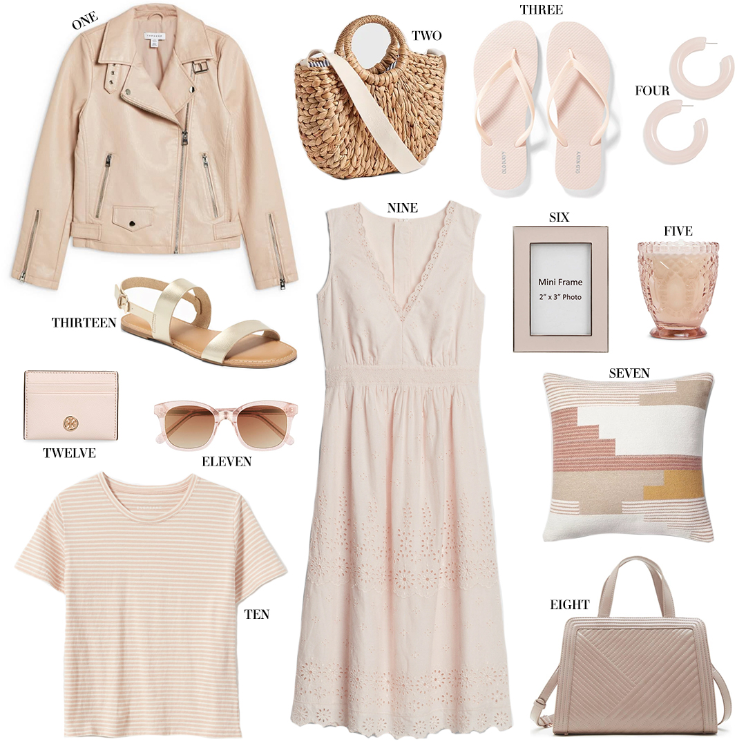 TOPSHOP FAUX LEATHER MOTO JACKET IN BLUSH // UNDER $100