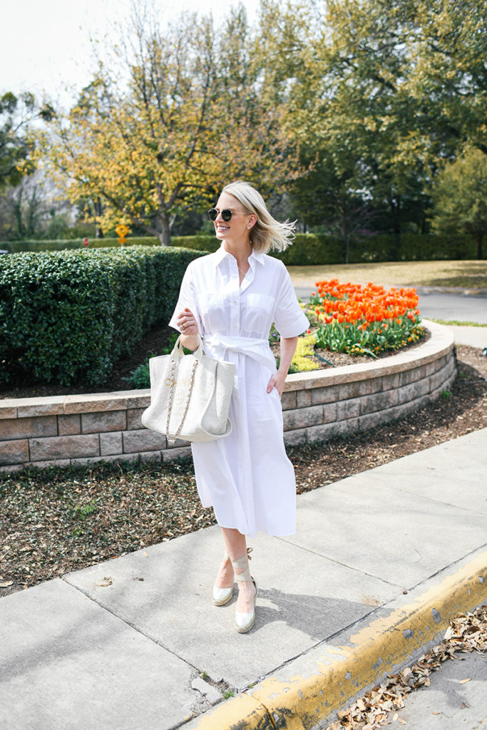 VINCE WHITE SHIRTDRESS // MERRITT BECK