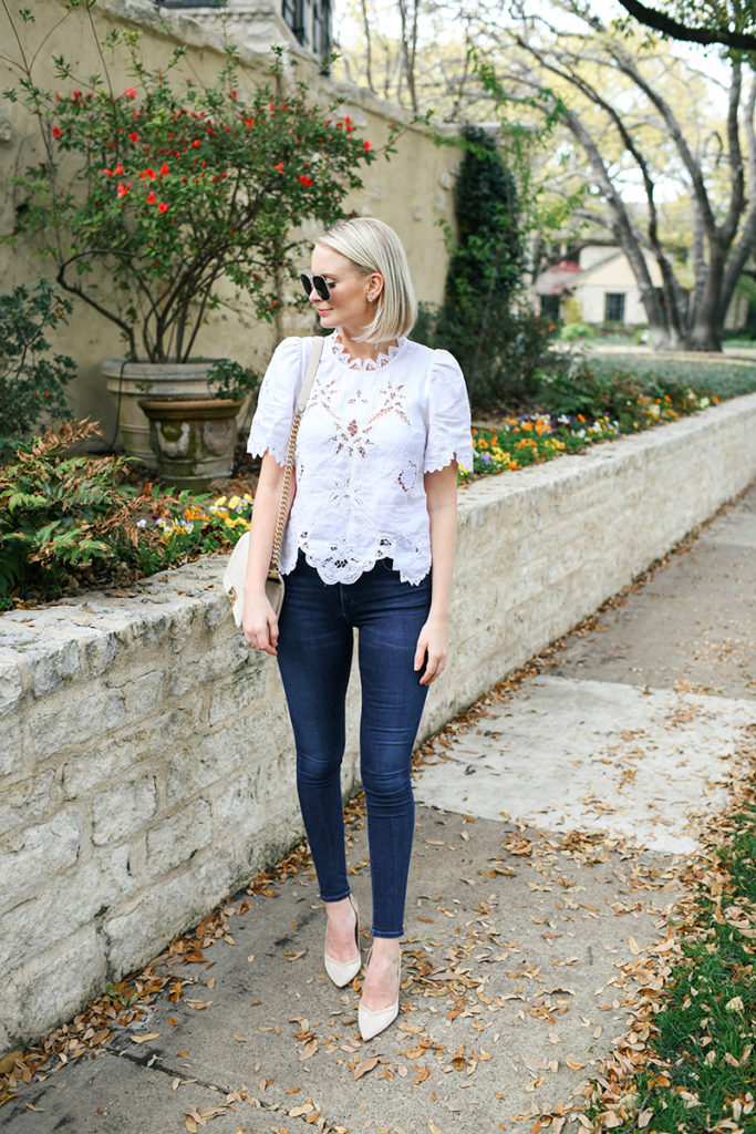 REBECCA TAYLOR EMBROIDERED LACE BLOUSE | MERRITT BECK