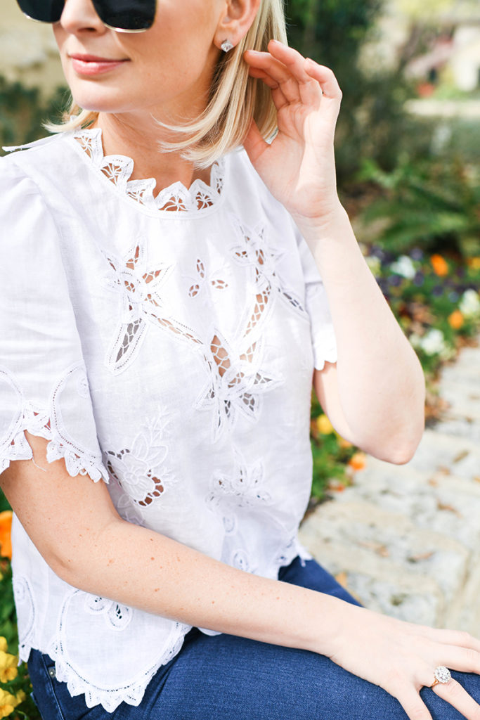 REBECCA TAYLOR EMBROIDERED LACE TOP // MERRITT BECK
