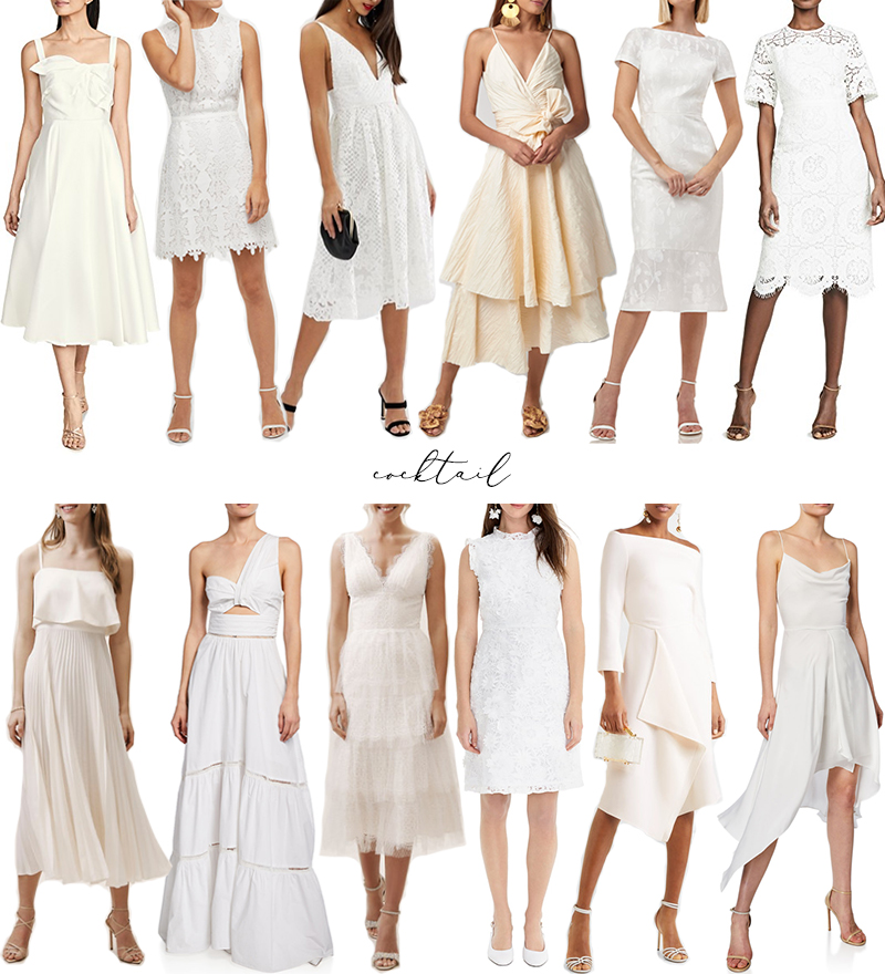 CHIC SUMMER WHITES | THE BEST CASUAL AND COCKTAIL STYLES // WEDDING STYLE