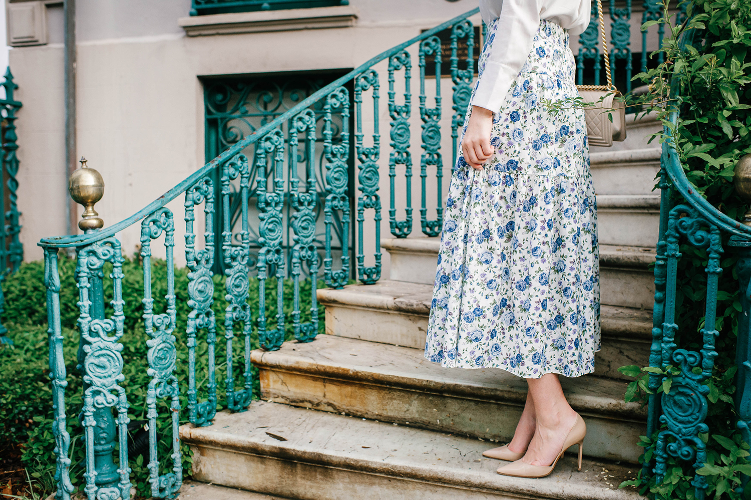 Merritt Beck, The Style Scribe | Charleston | Petersyn Floral Midi Skirt