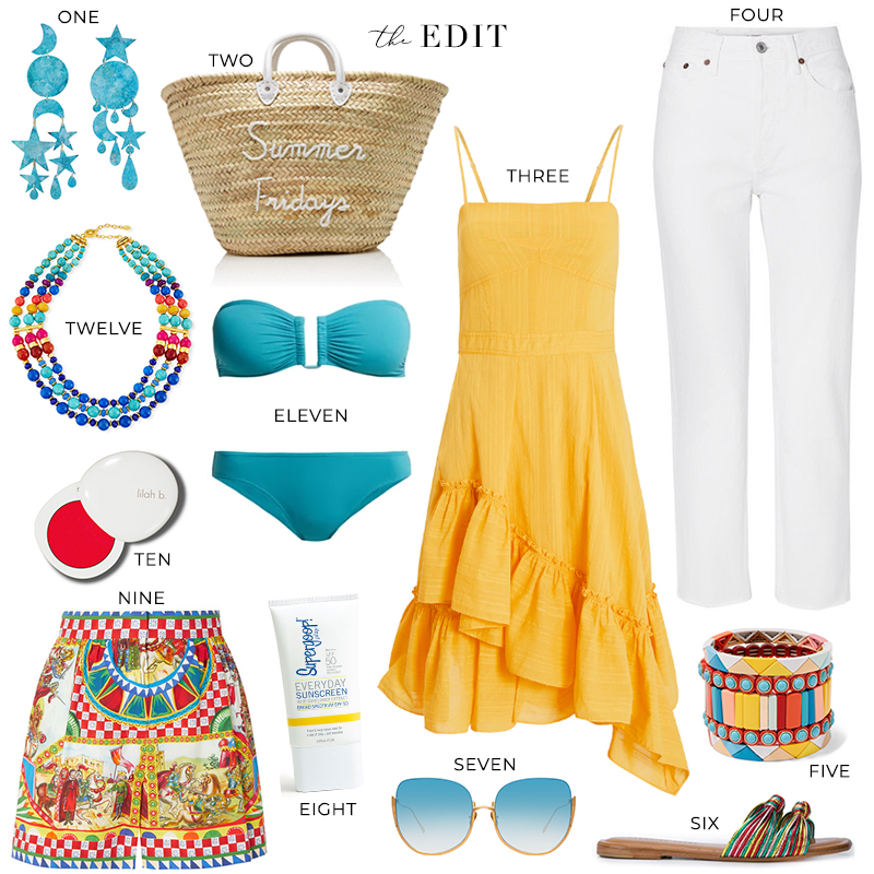 THE EDIT | POOLSIDE SUMMER FRIDAYS STRAW TOTE
