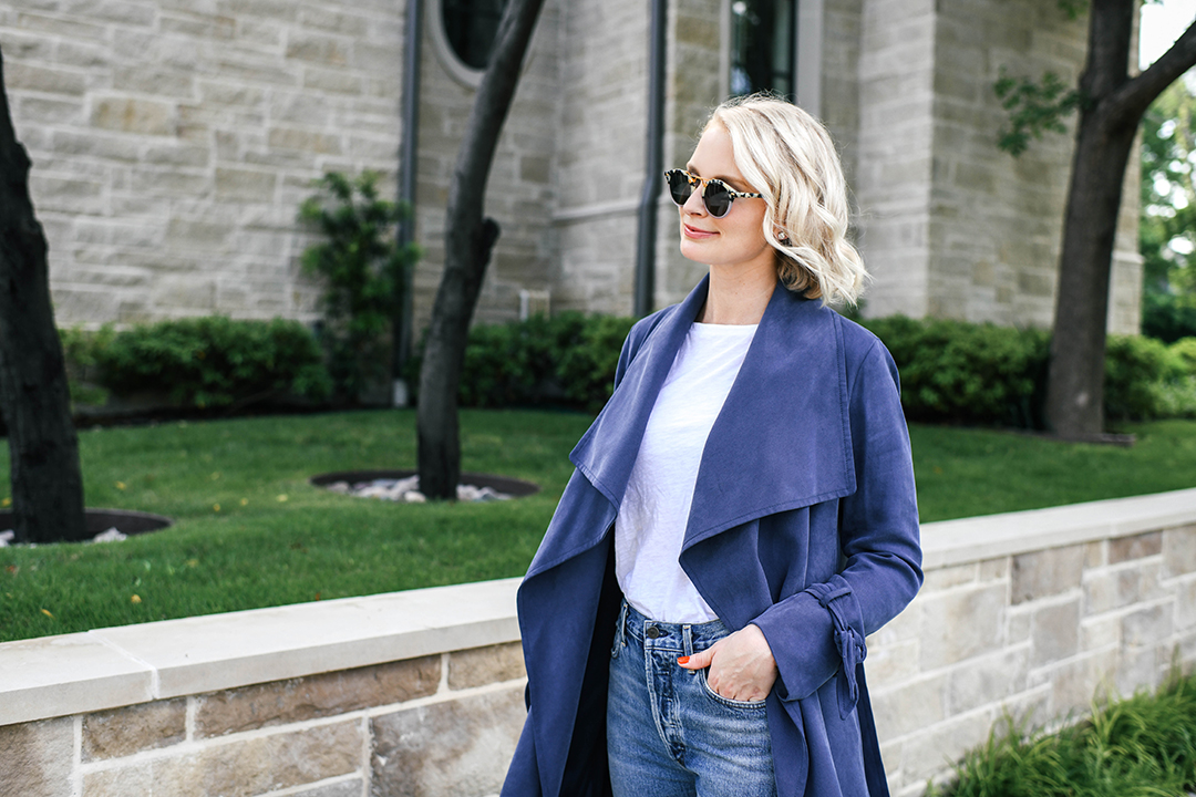 Citizens of Humanity Straight Leg Jeans + Club Monaco Trench