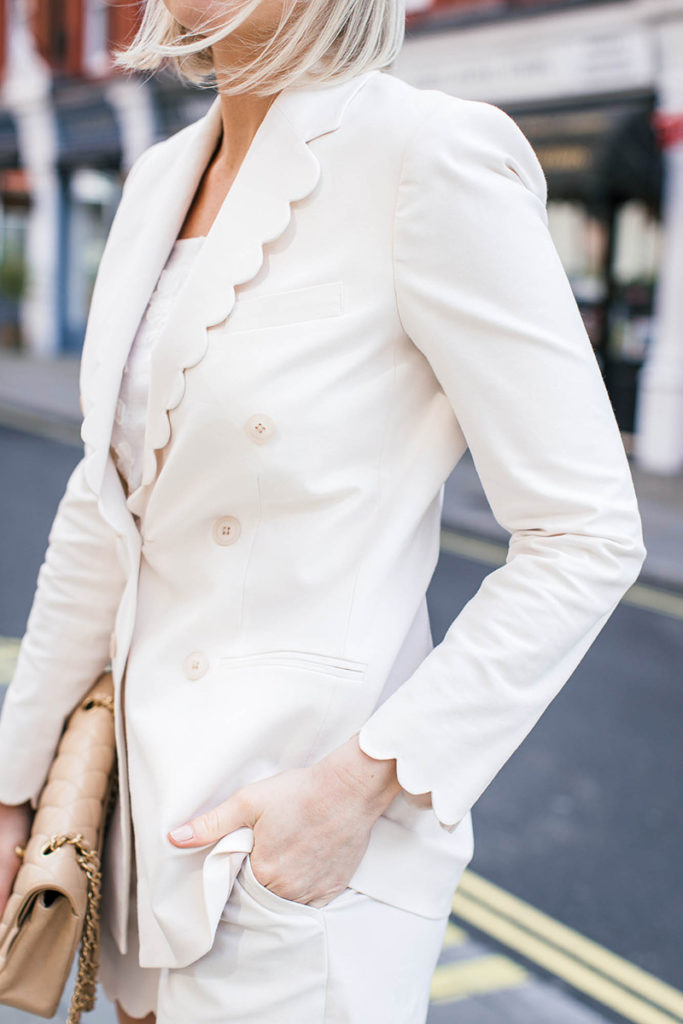 REBECCA TAYLOR SCALLOPED BLAZER SHORT SUIT LONDON