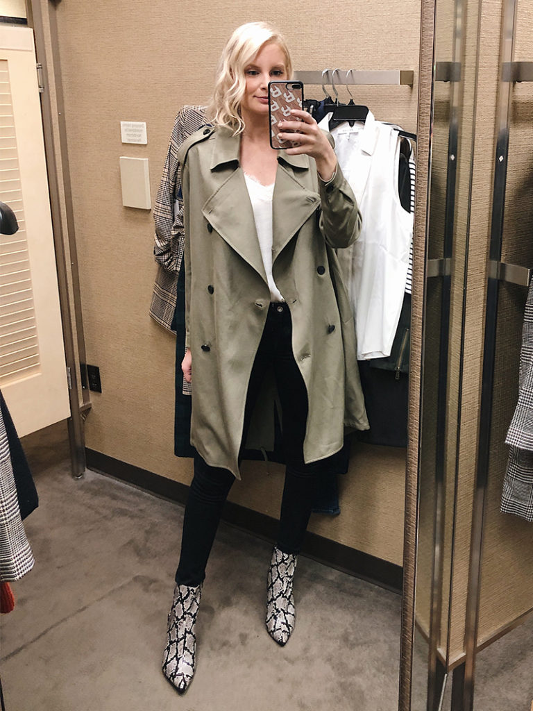 All Saints Olive Trench | Nordstrom Anniversary Sale