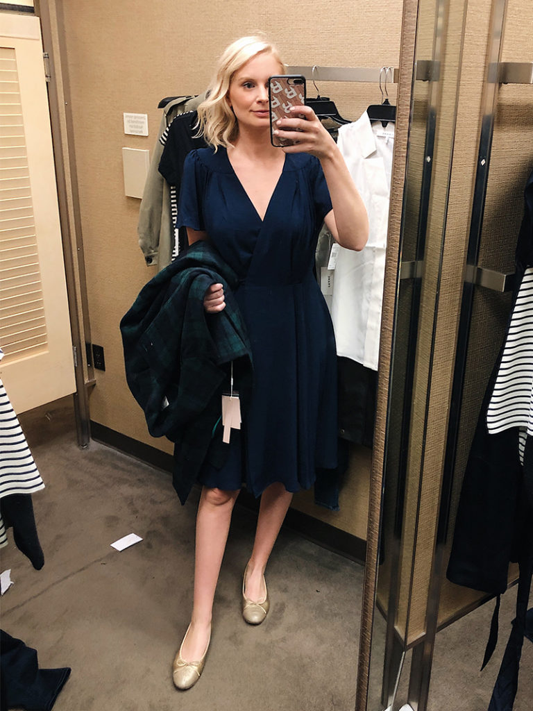 Gal Meets Glam Navy Wrap Dress | Nordstrom Anniversary Sale