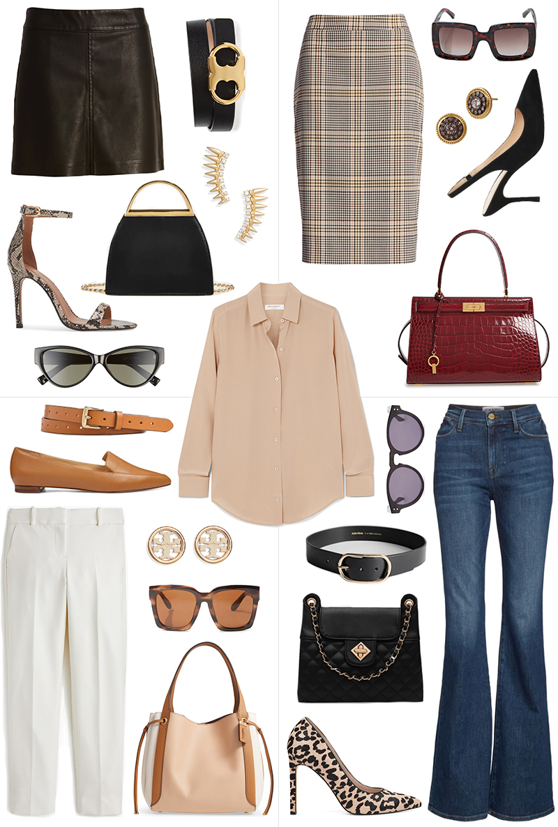 ONE PIECE STYLED FOUR WAYS // NEUTRAL BLOUSE