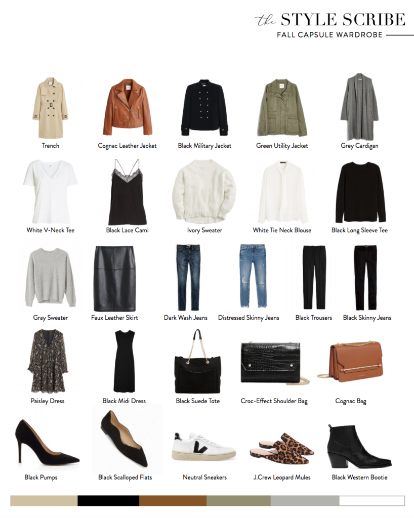 Fall 2019 Capsule Wardrobe by The Style Scribe