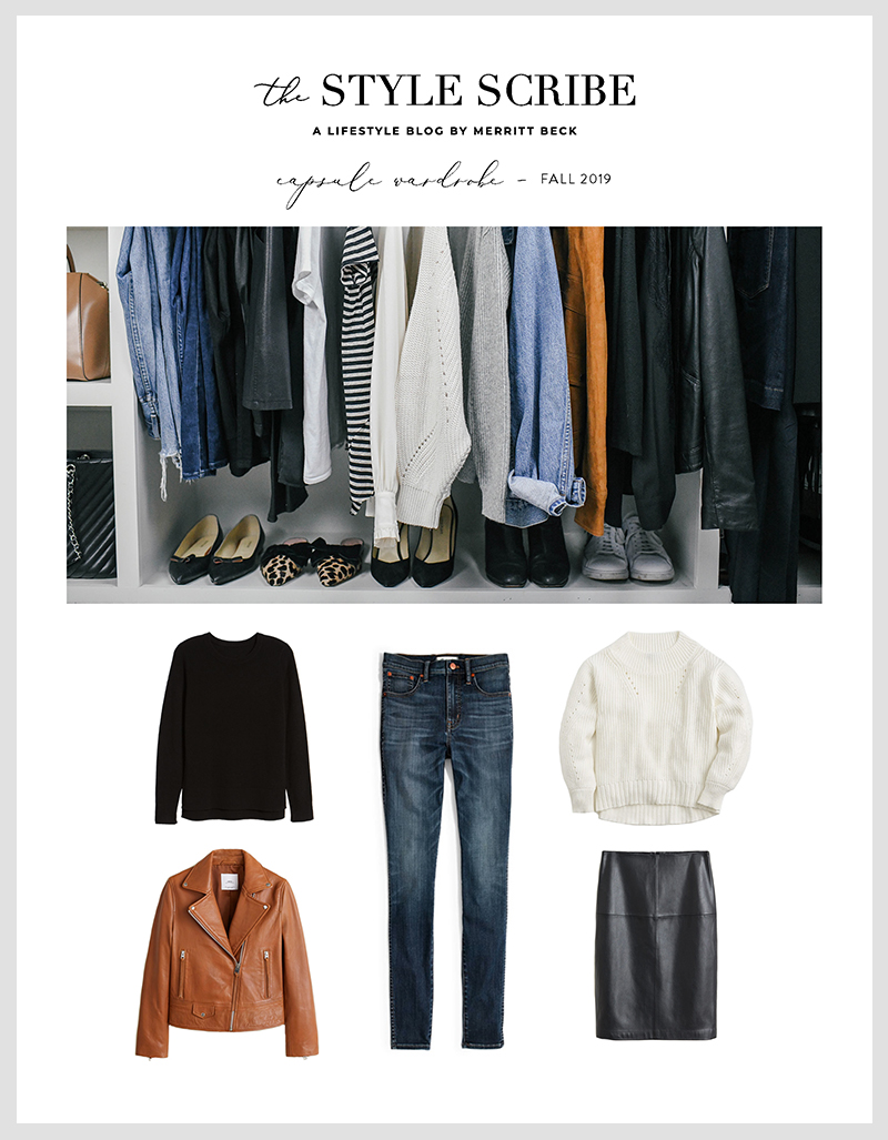 The Style Scribe 2019 Fall Capsule Wardrobe | Effortless Neutrals for Autumn