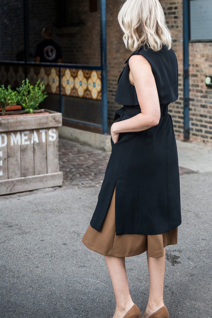 Meghan Markle Inspired Style // Sleeveless Trench Dress