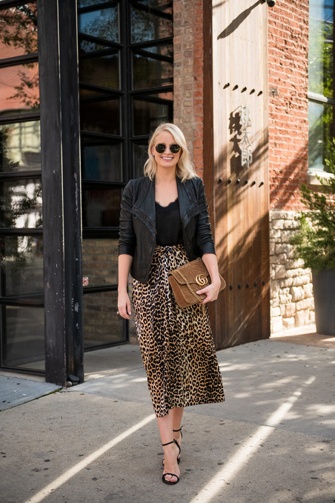 Merritt Beck, Dallas Fashion Blogger | Ganni Leopard Midi Skirt