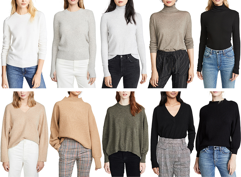 BEST SHOPBOP SALE SWEATERS // PROMO CODE STOCKUP19