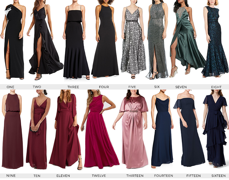 BLACK TIE/FORMAL WEDDING GUEST DRESSES UNDER $200