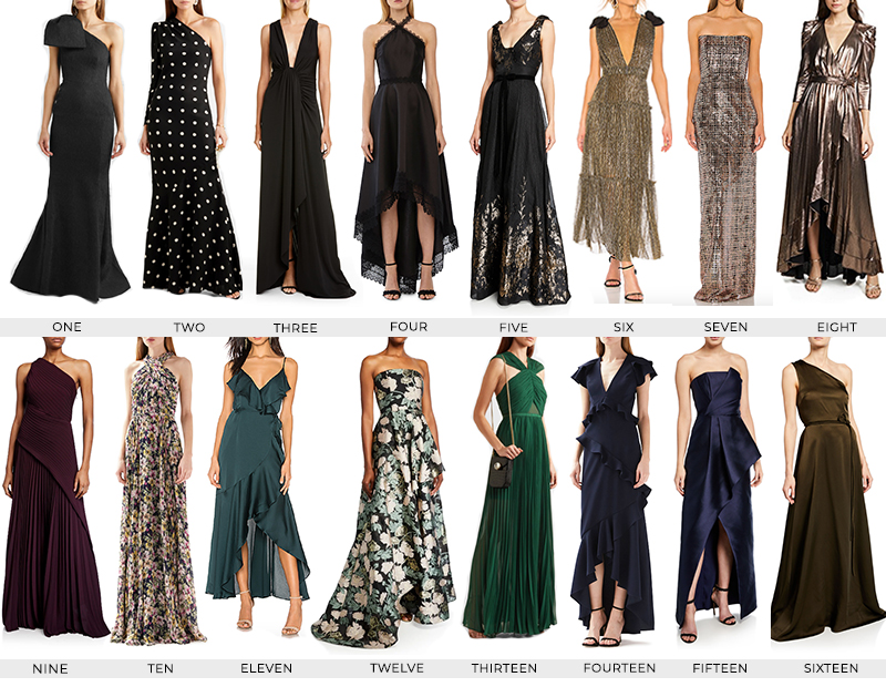 FALL 2019 BLACK TIE FORMAL WEDDING GUEST DRESSES | STYLE GUIDE