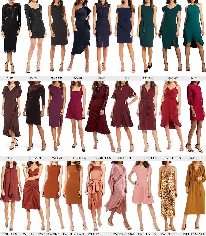FALL 2019 WEDDING GUEST STYLE GUIDE // COCKTAIL AND FORMAL DRESSES