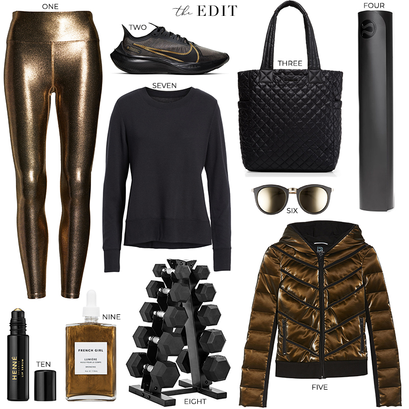 The Edit | Heroine Sport Metallic Leggings