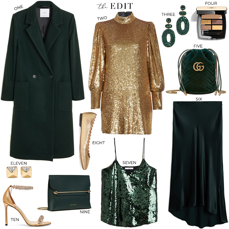 THE EDIT // ALC CHRISTY SEQUIN DRESS GOLD