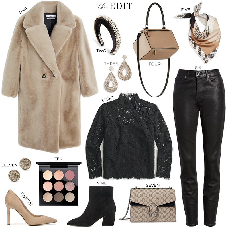 THE EDIT // J.CREW LACE BLOUSE AND MANGO FAUX FUR COAT