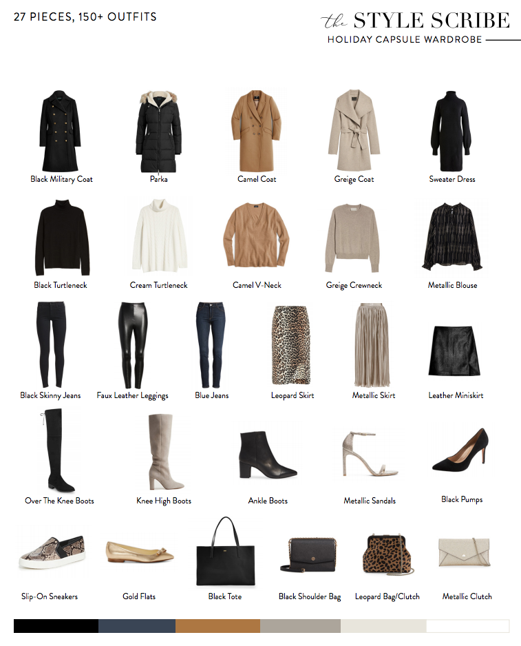 THE STYLE SCRIBE 2019 HOLIDAY/WINTER CAPSULE WARDROBE