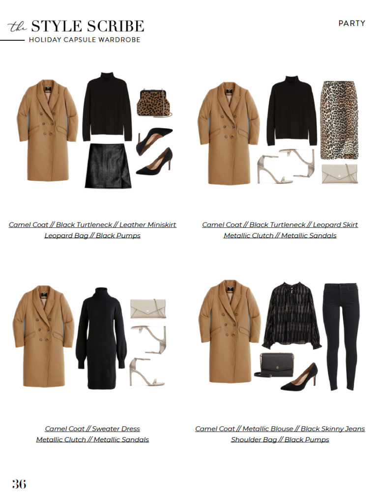 The Style Scribe 2019 Holiday/Winter Capsule Wardrobe // 27 Pieces = 150 Outfits