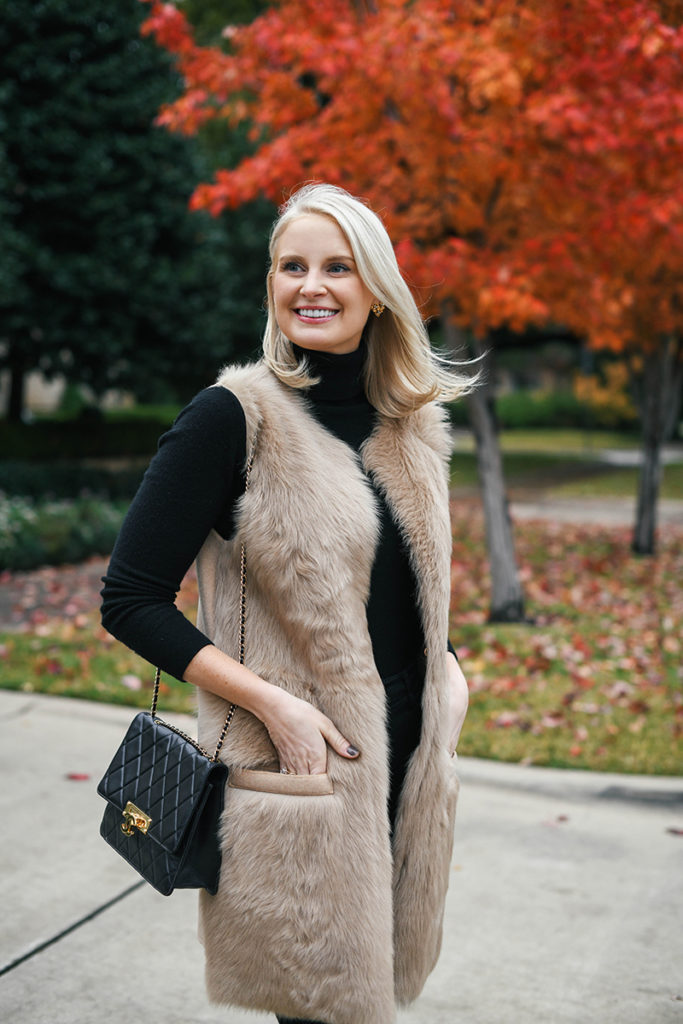 Styling a Shearling or Fur Vest | The Style Scribe