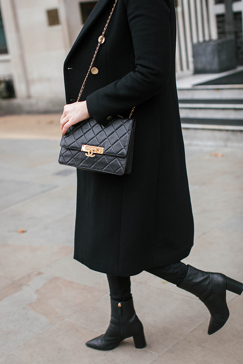 Black Chanel Bag with Gold Hardware